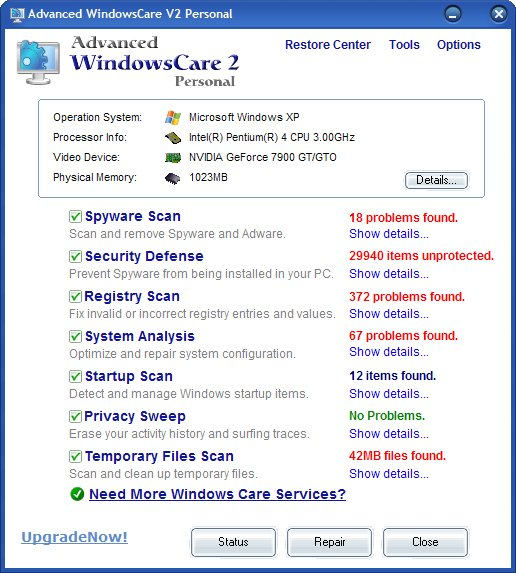 Advanced WindowsCare Professional 2.30.